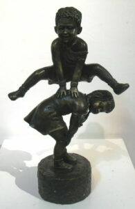 Db Bronze Leap Frog Boy Over Girl From Blog