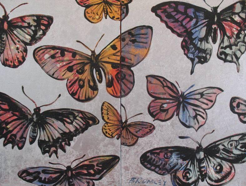 Db122 Butterflies Diptych 2X Panels 51X76Cm From Blog