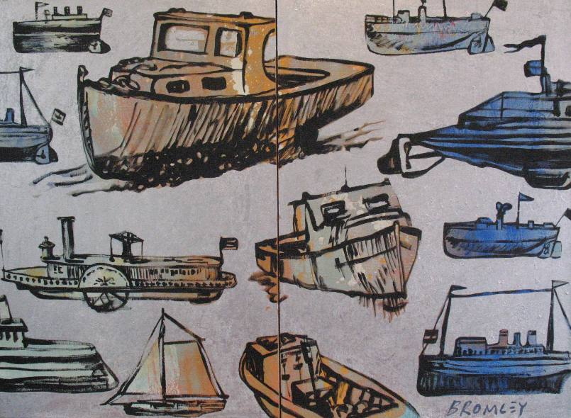 Db59 Boats Diptych 2X Panels 60X90Cm From Blog