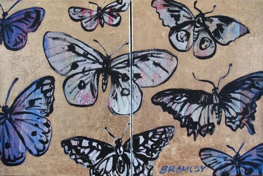 Db60 Butterflies Diptych 2 Panels 31X41Cm From Blog