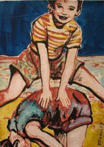 Db66 Leapfrog Boy Over Girl 26X36Cm From Blog