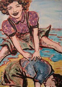 Db67 Leapfrog Girl Over Boy 26X36Cm From Blog