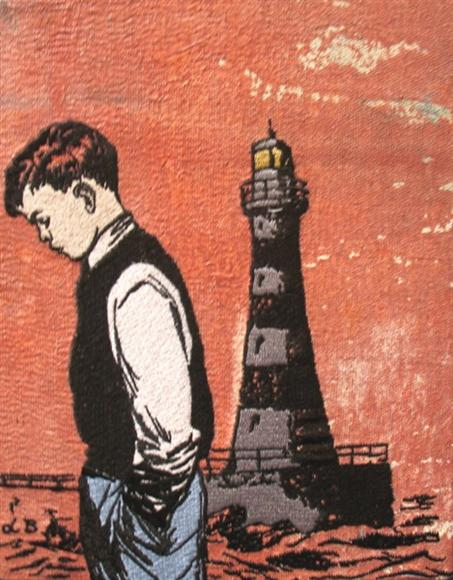 Db88 Boy With Lighthouse Embroidery 28X33Cm From Blog