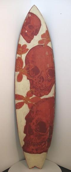 Dbr30 Surfboard Red Skulls Front