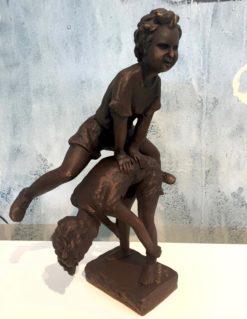 David Bromley Leapfrog Boy over Boy Bronze Sculpture 3 247x319