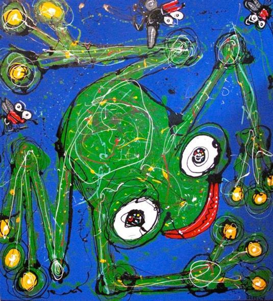 Anthony Breslin   Blue Frog Fine Art