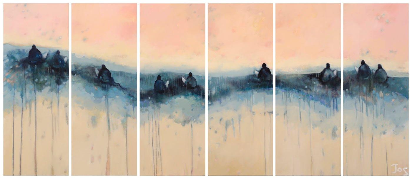 Jos Myers   Sunset Line Up Fine Art