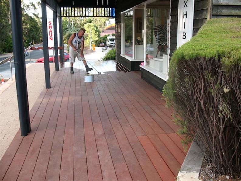 Oiling Of The New Verandah Deck
