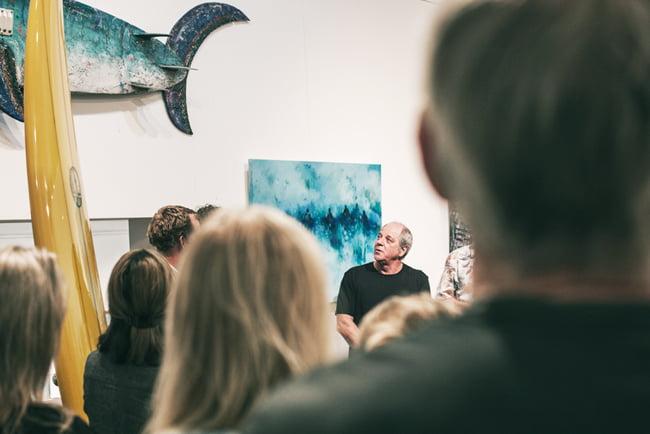 Ocean Art Opening Margaret River Australia Art Gallery 2 Marri Timber Jarrah Timber