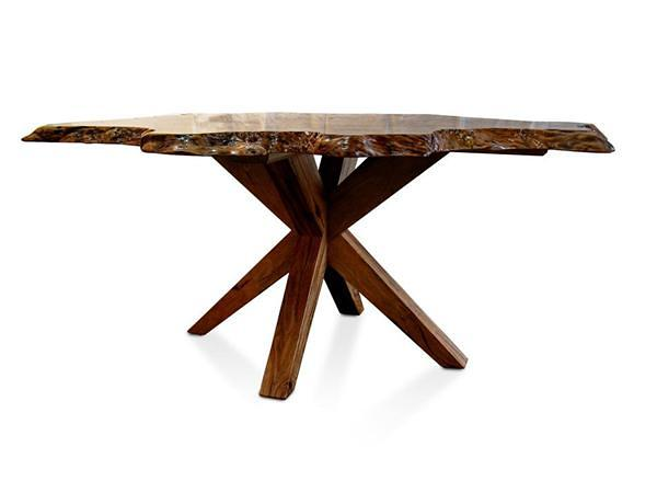 Table Dining Isle Marri Burl 2B New New