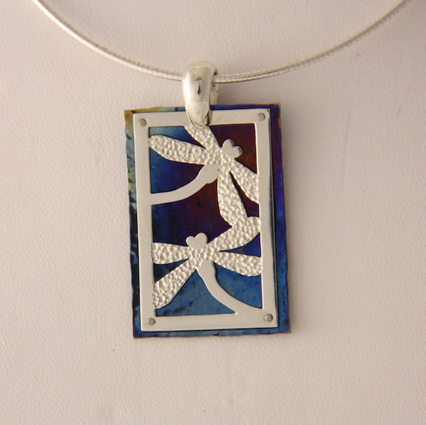 Amilia Adams   Dragonfly Rectangle pendant Fine Art