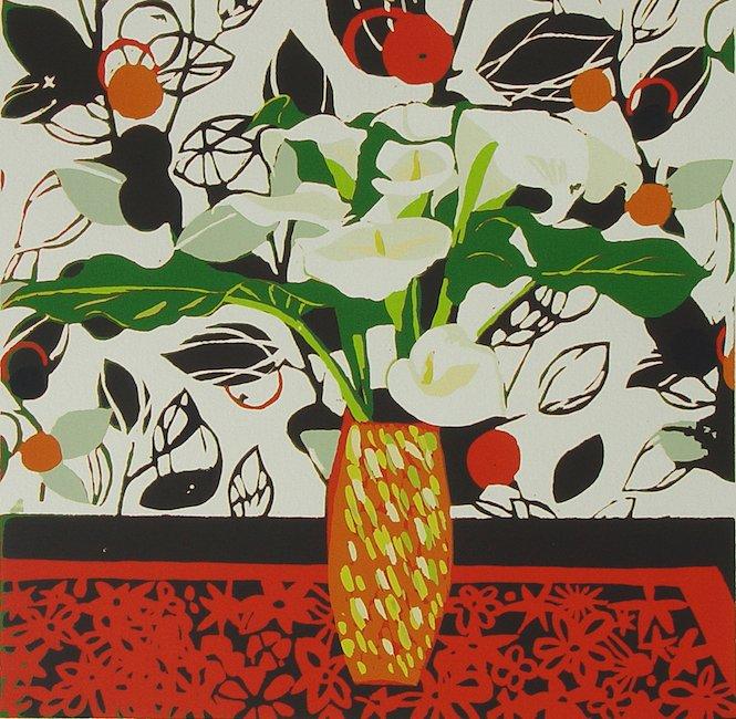 Caroline Juniper Lilies And Wallpaper 005