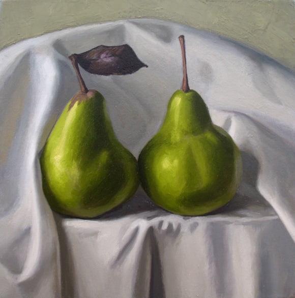 Crispin Akerman Two Pears 25x25cm 1600
