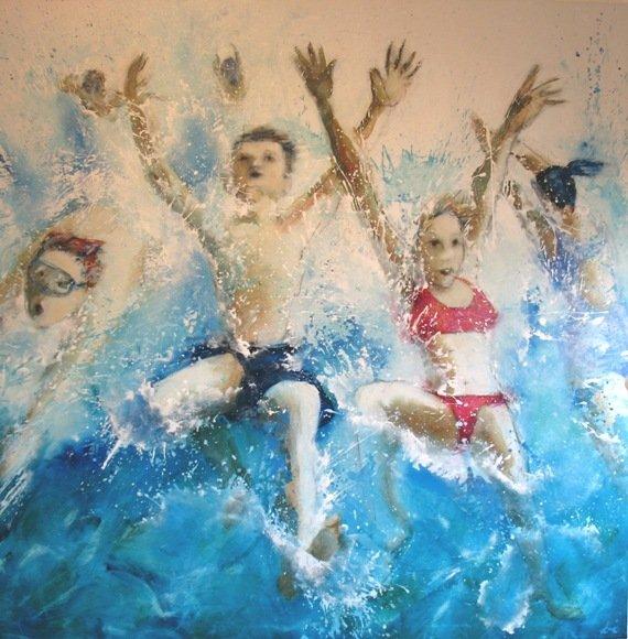 Di Taylor White Water Fun 152X152Cm 5200