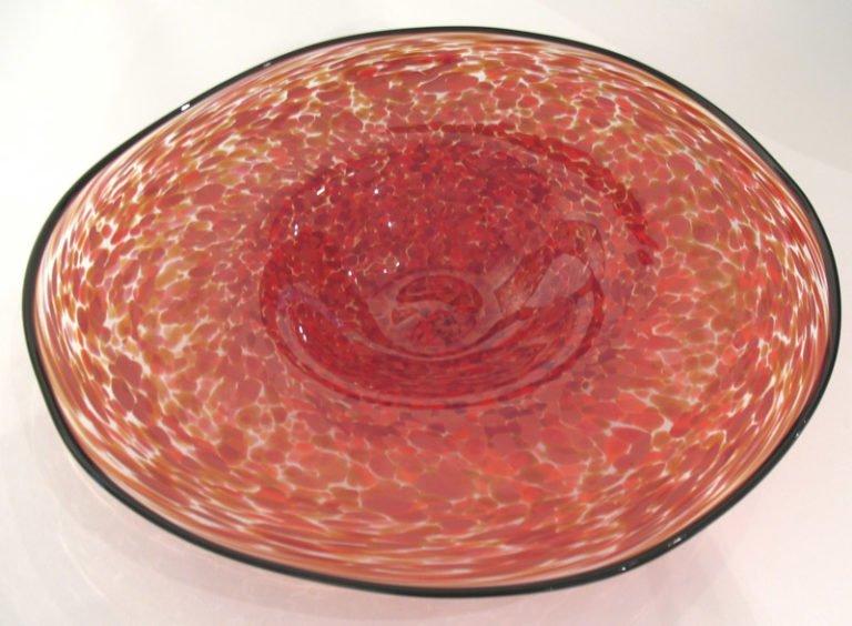 Eileen Gordon red platter 445 768x564