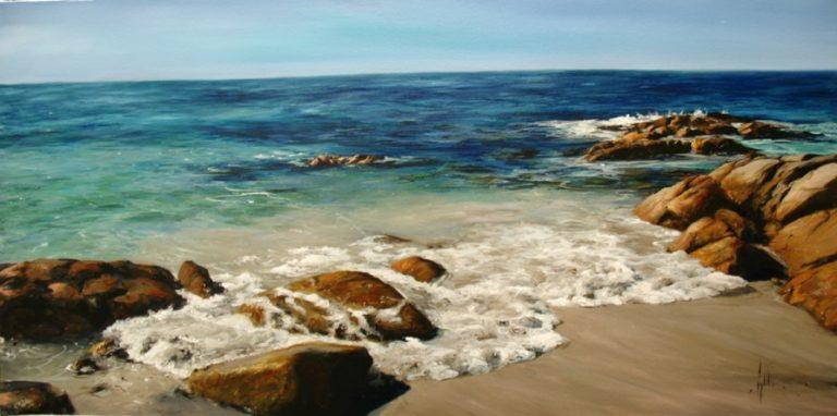 Gary Leathendale Coastal Rocks 92x46cm 2700 768x382