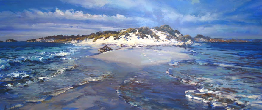 Greg Baker Footprints on Natural Jetty Rottnest