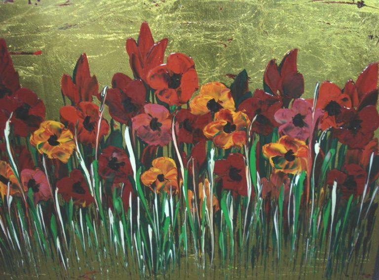 Nick Economo Poppies on Gold 2 768x569