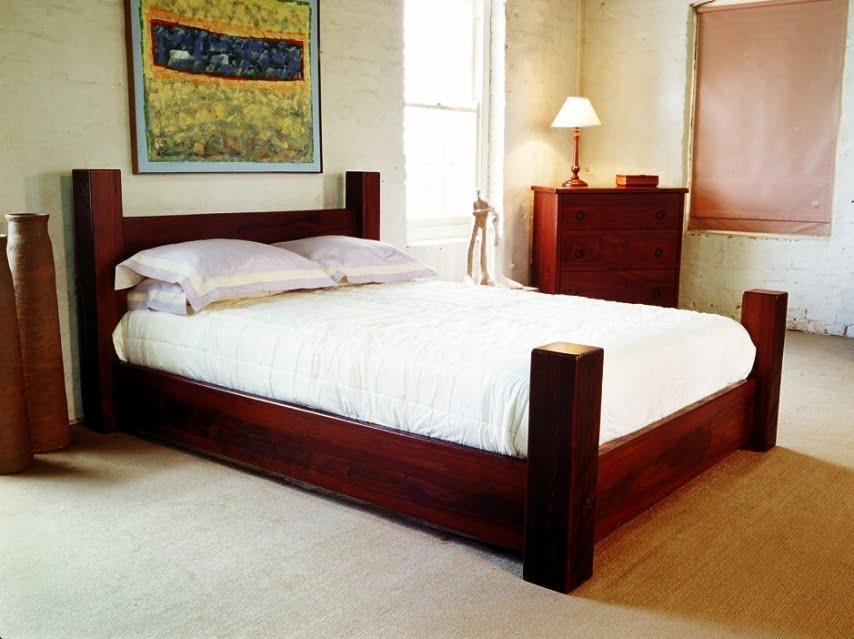 Four poster jarrah bed fine furniture design fine art for 4 bed