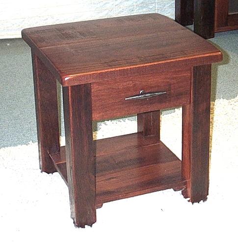 Bedside Homesteader With Drawer Wooden Shelf