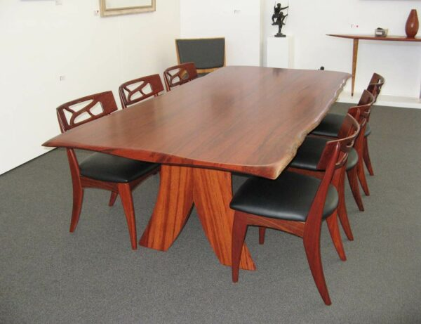 Baby Fallen Giant Jarrah Dining Table With Filigree Dining Chairs