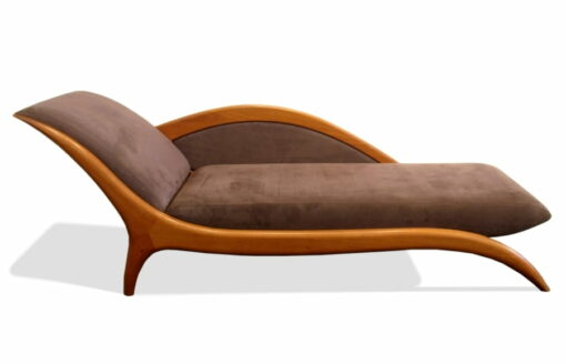 Chaise Lounge Sues Blackbutt With Raisin Macrosuede Front