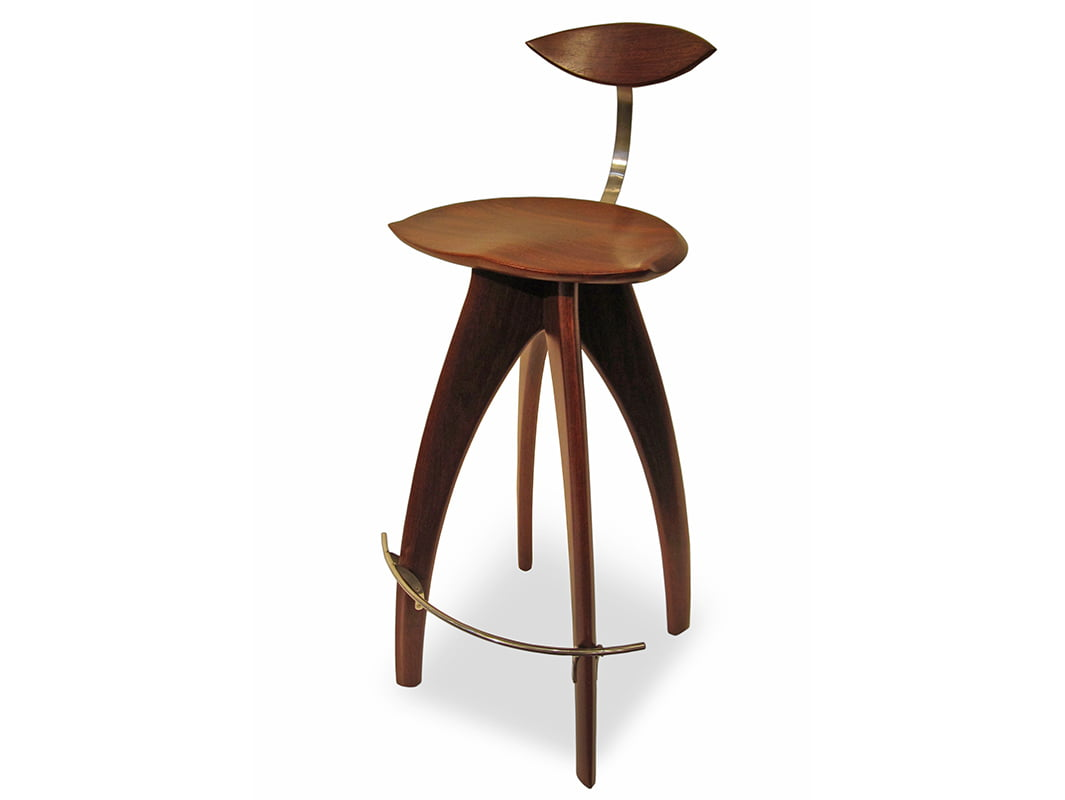 Crab Bar Stool With Backrest Fine Art