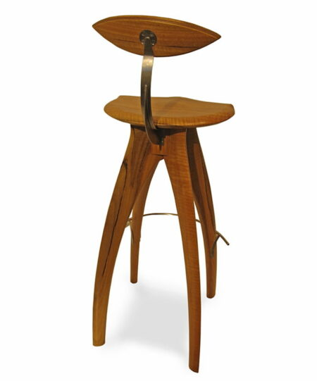 Crab Marri Stool With Backrest