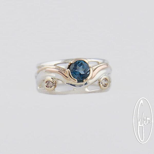 D29A Gemma Baker Jeweller Blue Topaz Ring