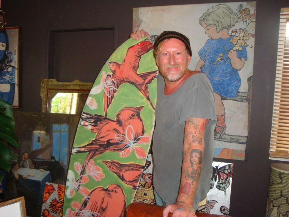 David Bromley in his studio