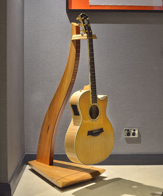 Designer Timber Guitar Stand Fine Furniture Design
