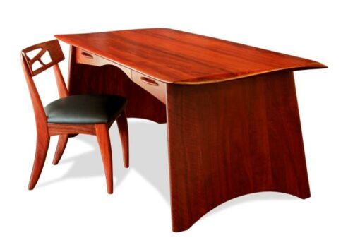Desk Spock Writing Desk Jarrah With Filigree Chair Cropped New