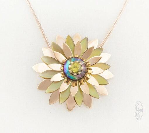 E11 Gemma Baker Jeweller Rose Gold Everlasting Wildflower Pendant