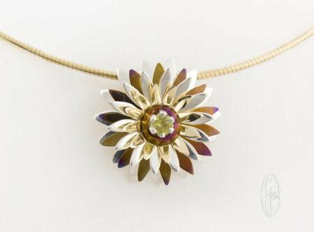 E14 Gemma Baker Jeweller Yellow Sapphire Everlasting Wildflower Pendant