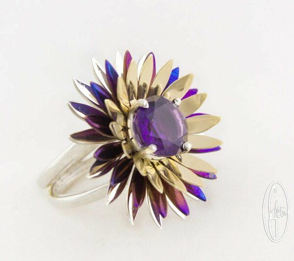 E16 Gemma Baker Jeweller Amethyst Wildflower Ring