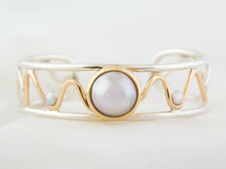 Gemma Baker Jewellery Waves Mabe Pearl Cuff