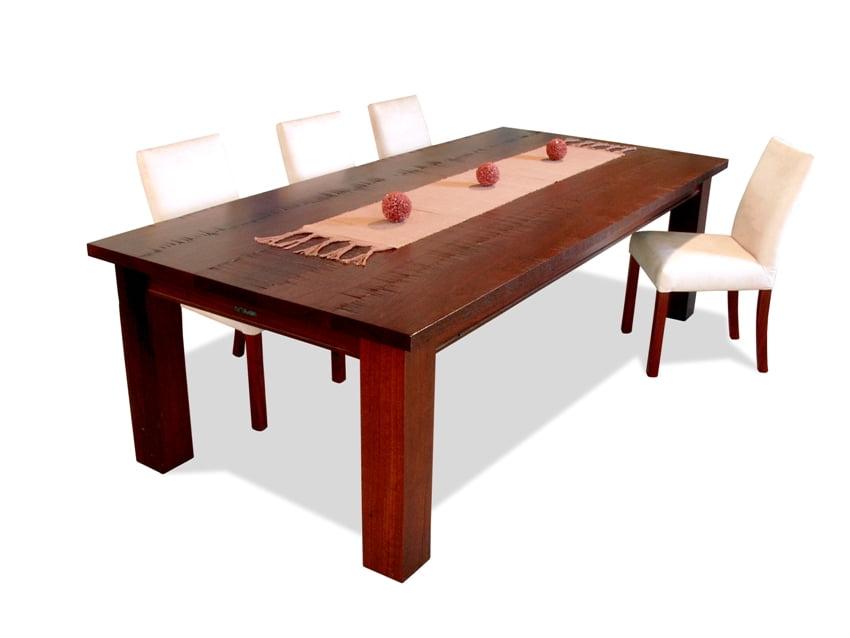 Homesteader Jarrah Dining Table Fine Furniture Design  : Homesteader MR finish with white chairs from www.jahroc.com.au size 850 x 638 jpeg 111kB