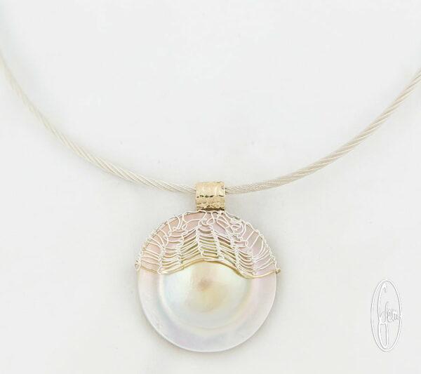 K20 Gemma Baker Jeweller Abrolhos Mabe Pearl Pendant