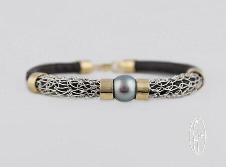 K23 Gemma Baker Jeweller Abrolhos Pearl French Knitted Bracelet