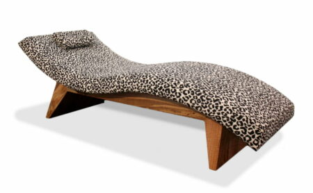 Kimberley Chaise With Leopard Fabric