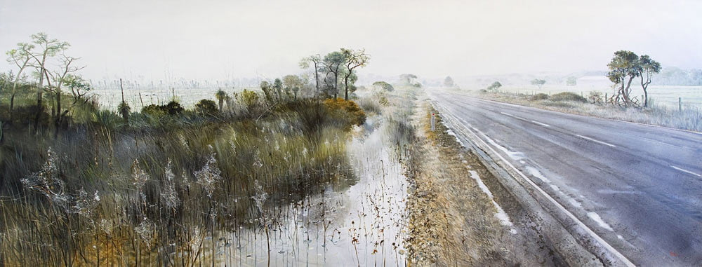 Larry Mitchell Early Morning Road In 305X122Cm