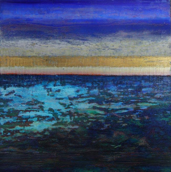 Narelle Pendlebury Lagoon 90X90Cm