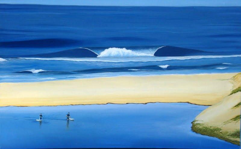 Oyster Creek 24X36 Inch Acrylic On Canvas 950