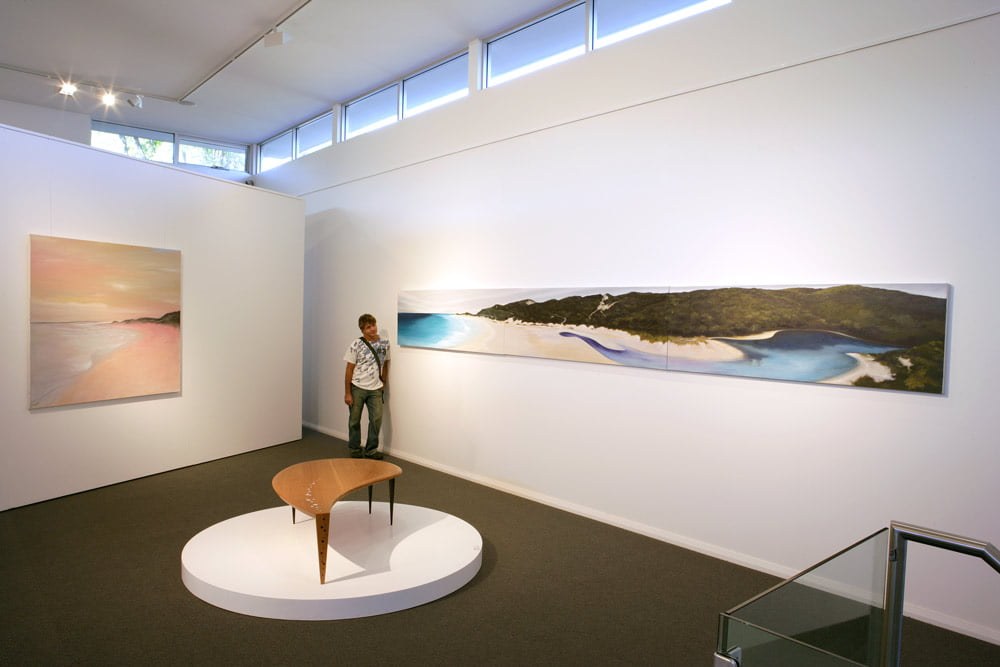 Shaun Atkinson With Paintings In Jahroc Galleries