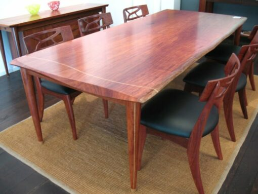 Silhouette Dining Table Solid Jarrah With Filigree Chairs