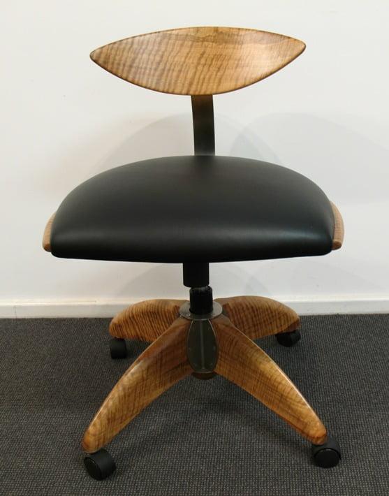 Spock Designer Timber Office Chair Fine Furniture Design