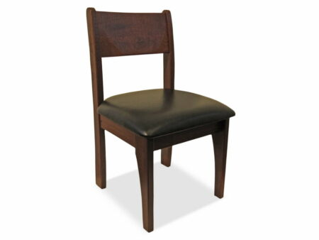 Stockman Dining Chair Jarrah Timber Rounded Edges