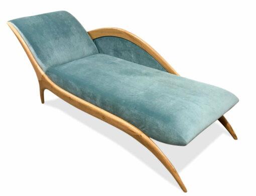 Sues Chaise Lounge Blue Velvet