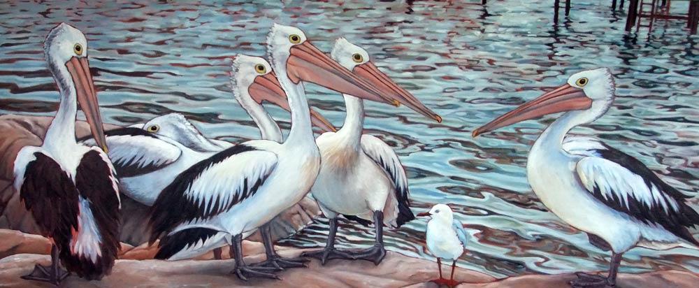 Susan Tingay Keeping Good Company 170X70Cm Oil On Canvas