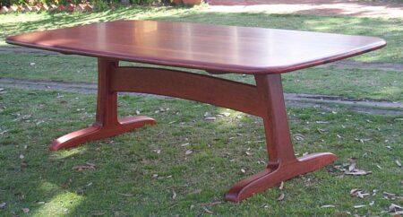 Table Dining Pedestal Jarrah Base Esplan